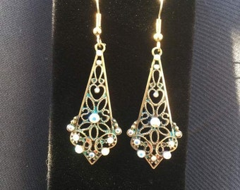 Gold Art Nouveau Earrings