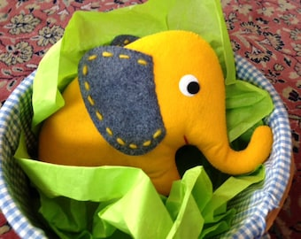 Felt Elephant sewing pattern PDF - INSTANT DOWNLOAD
