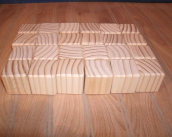 "40 unfinished wooden blocks,wood blocks 1 1/2"", baby blocks, wood baby blocks, baby shower activity blocks, craft blocks"