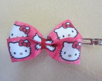 Small Hello Kitty Tuxedo Hair Bow