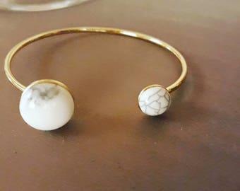 Marble stone Bangle