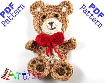 Pdf Pattern Teddy Bear Crochet