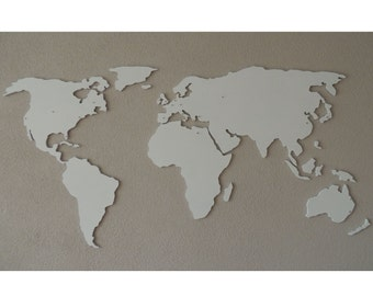 XL Magnetic wooden 3d world map, floating on the wall
