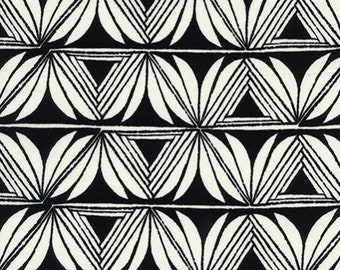 Cotton + Steel- Pottery in Black RAYON- Santa Fe - Sarah Watts