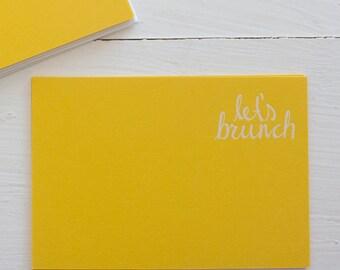pressed flat notecards - LET'S BRUNCH