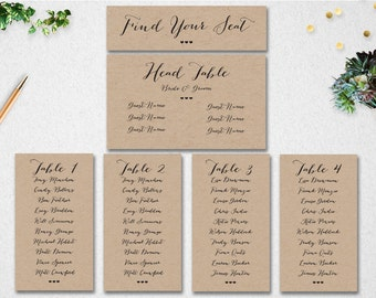 Wedding Seating Chart Template // INSTANT DOWNLOAD // Editable // Printable // Find Your Seat // Table Seating // PDF // #PBP89
