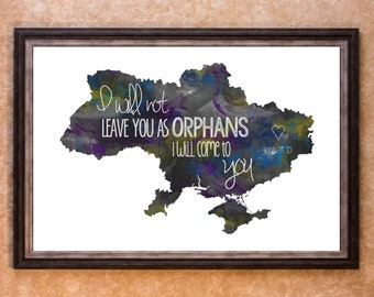 Home Decor - Adoption - Ukraine Graphic Art