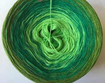 Greens Gradient Yarn Cake