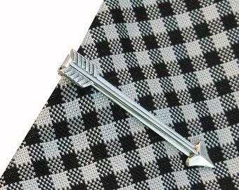 Cupids arrow tie bar, Arrow Tie Bar, Arrow Tie Clip, Silver arrow tie bar, Valentine gift for boyfriend, Skinny tie bar, steampunk tie bar,