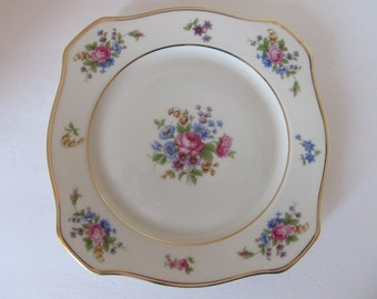 TIRSCHENREUTH  The Queens Rose 4416 Snack Plate Made in Bavaria