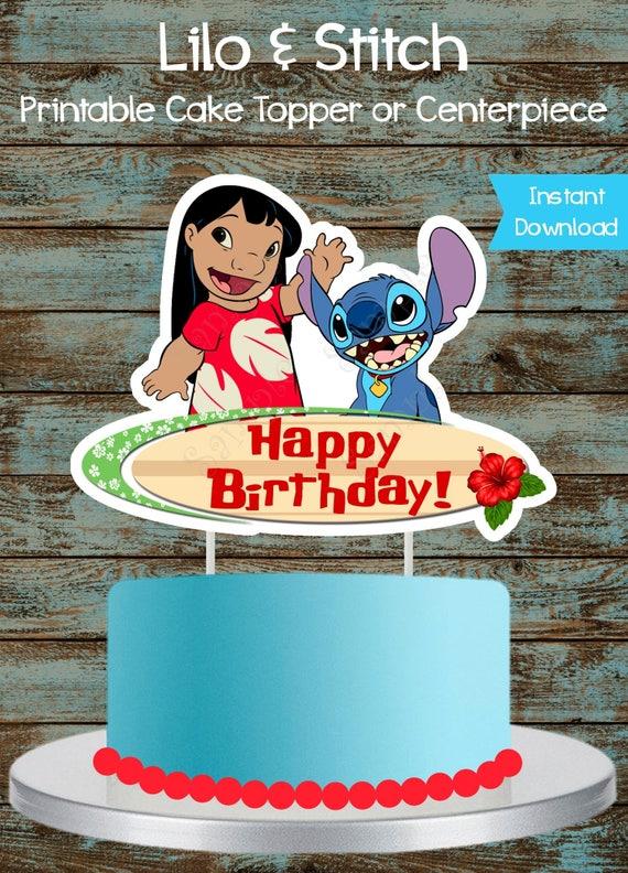 Printable Lilo And Stitch Cake Topper Lilo And Stitch