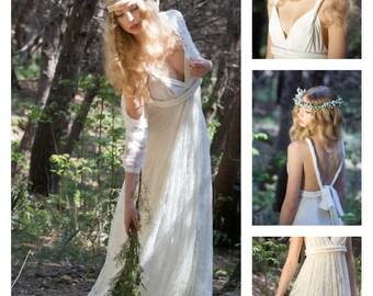 Romantic bridal gown, lace skirt bridal gown, lace wedding dress, romantic bride, standard size wedding dress, boho wedding dress lace
