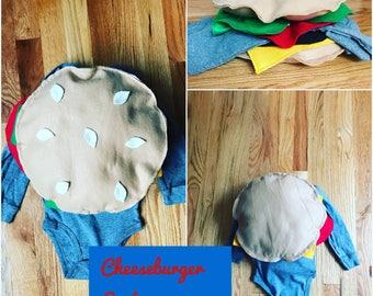 Infant cheeseburger costume