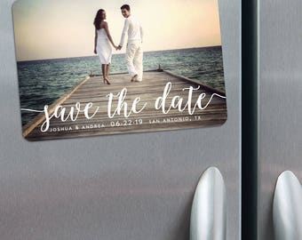 Handwriting - Magnet - Photo Wedding Save the Date + Envelopes