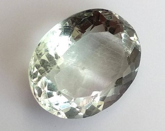 Fluorite Oval Cut Cabochon, Natural Fluorite Cabochon, 16x14 MM, Fluorite Faceted Cabochon, 15 Cts, Fluorite Loose Gemstone.