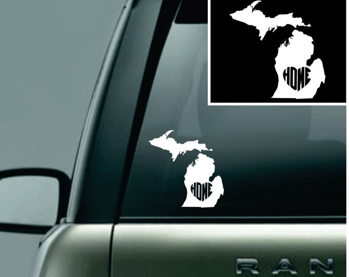 Michigan Love Your State Car Decal