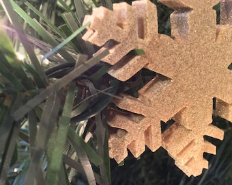 Glitter Snowflake Ornament Set
