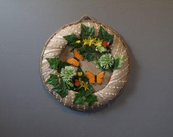wreath burlap butterflies