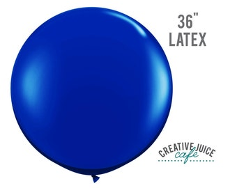 "36"" BLUE giant latex balloon - Perfect for weddings, birthdays, photography props"
