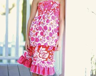 Izzy's Double Ruffle Skirt PDF Pattern size 7/8 to 15/16 girls