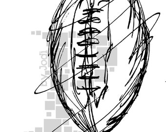 Football! Sketchy, EPS file, Vector and jpeg, png, sketchy, Screen Printing, Clip Art, Football