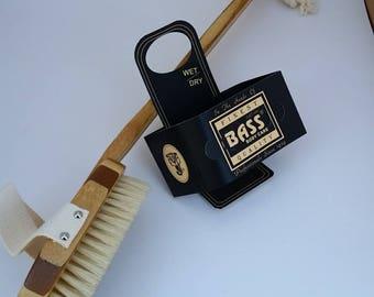 Bass Bath Brush with Long Bamboo Handle and Natural Bristles