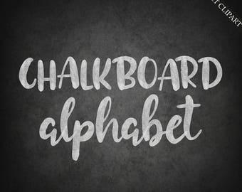 quick view chalkboard alphabet clipart digital chalk font