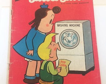 Little Lulu Comic Book Washing Machine George Kell of the Boston Red Sox 1950s Milky Way Ads Volume 1 Number 65 November 1953