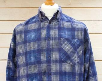 Vintage Flannel Checked Shirt Size - Medium