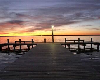 Bayfront Pier Lavallette NJ Sunset