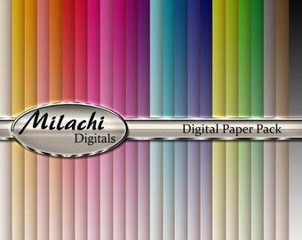 60% OFF SALE Rainbow Ombre Digital Paper Pack - Commercial Use - Instant Download - M8