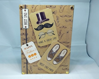 Father's Day Card - Dad/Daddy/Pa/Pop luxury personalised unique quality special bespoke UK