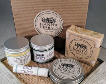 3 Month Subscription Box - Cherry Blossom - dry skin relief - skin care gift box - fall and winter relief - subscription box - monthly  box