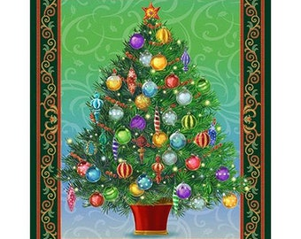 """Holiday Treasures 36"""" x 44"""" Christmas Panel 45416F from Quilting Treasures by the panel"""