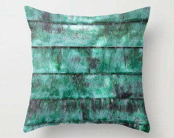 Turquoise pillow, abstract teal green comfy sofa pillow teal striped cushion outdoor patio pillow teal couch pillow modern home decor pillow