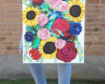 Acrylic Floral Painting: Spring