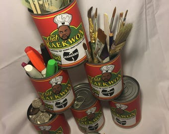 3 Pack Wu-Tang Clan RaeKwon the Chef Hip Hop Pop Art Stash Can