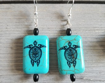Turtle Turquoise and Onyx