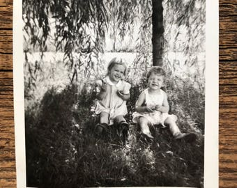 Original Vintage Photograph | Under the Weeping Willow