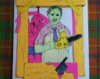 Texas Chainsaw Massacre Post-it Print