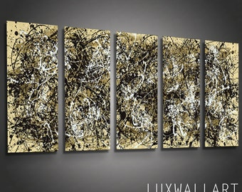 Abstract Metal Wall Art Pollock 9