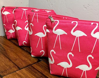 Essential Oils bag, PINK FLAMINGOS, EO oils case, oil bag, oil travel case, oil travel bag, oil storage, oil carry case, essential oils tote