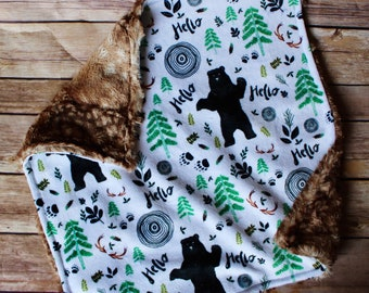 Lovey Blanket for Baby – Hello Bear Baby Boy Gift