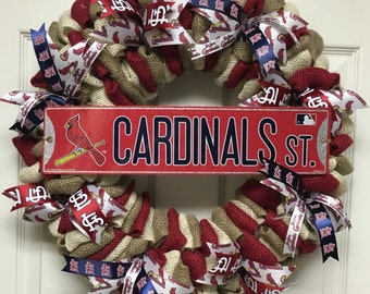 St. Louis Cardinals Wreath, Cardinals Wreath, St. Louis Cardinals Baseball, Cardinals Fan Gift