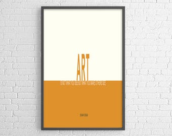 Edgar Degas quote, art is not what you see, poster