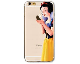 Disney SNOW WHITE iPhone X 8 7 6s 6 Plus 5SE Case Disney Snow White iPhone Case Apple Pattern Best Friend Gift For Her Clear Silicone Case