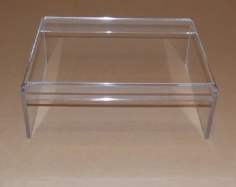 Clear Acrylic Riser Stand For Desktop Monitor