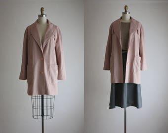 blush ultrasuede jacket