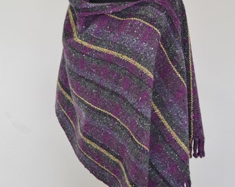 Hand woven Donegal Tweed Poncho