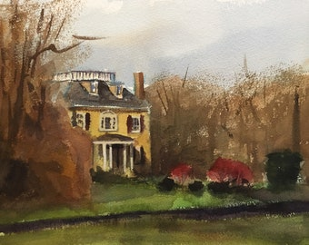 Fairmount Park - 12x16 - Watercolor
